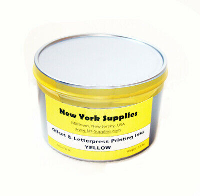 Yellow Offset And Letterpress Printing Ink - 2.5 Lbs