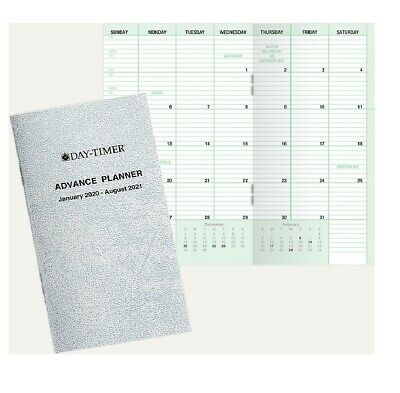 Day-timer Advance Planner Compact 3 X 5 20 Months Jan 2020 - Aug 2021