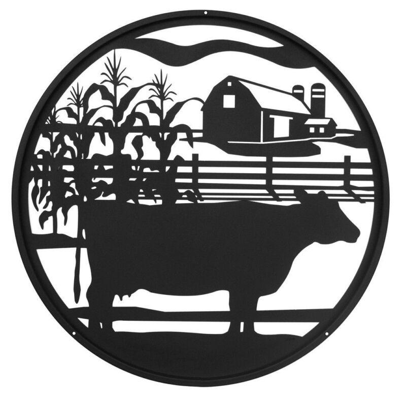 SWEN Products FARM MEAT COW Steel Scenic Art Design