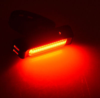 Bicycle Bike Cycling head tail Light USB Rechargeable Lamp 6 Modes COB 1LED Red