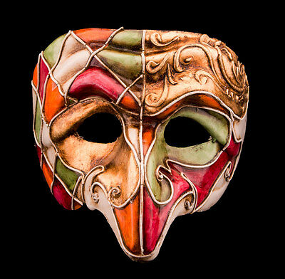 Mask from Venice Polichinelle- Paper Mache for Homme-Haut of the Range 2145-VG8