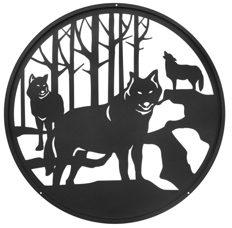 SWEN Products WOLF COYOTES Steel Scenic Art Design