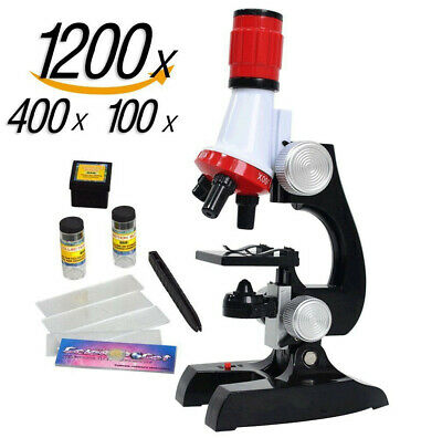 1004001200x Educational Biology Science Microscope Lab Magnifier For Children