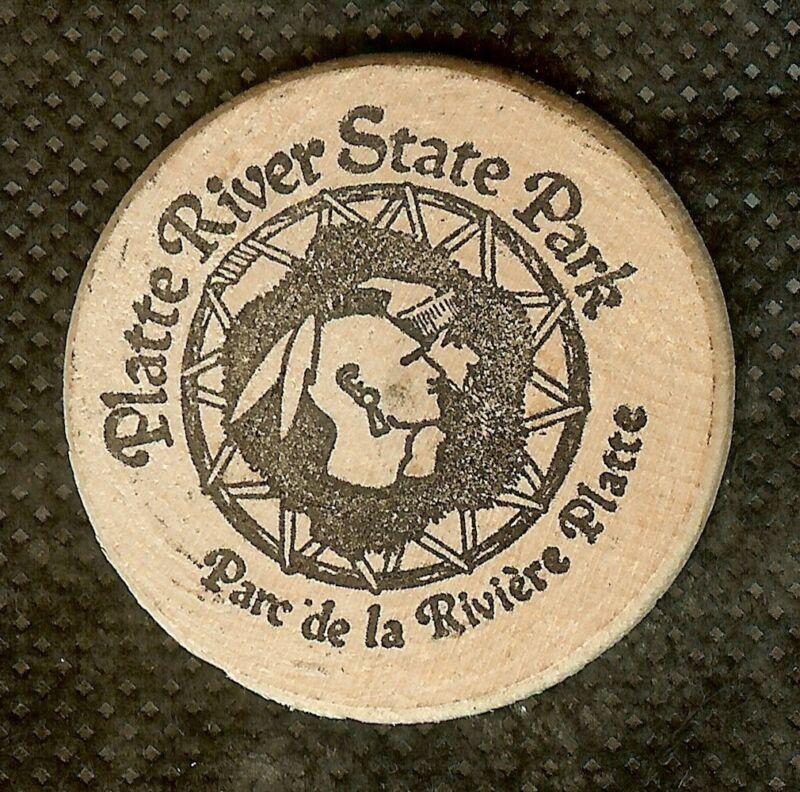 VINTAGE WOODEN NICKEL PLATTE RIVER STATE PARK NEBRASKA GAME & PARKS OWEN LANDING