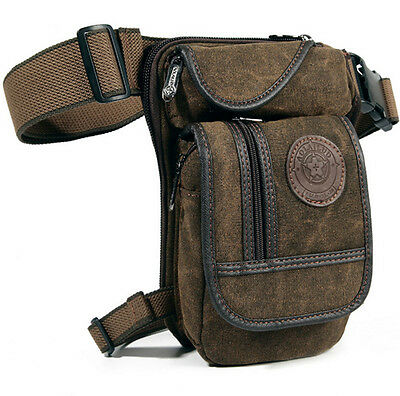 Men's Canvas Military Tactical Messenger Belt Fanny Pack Waist Drop Leg Bag New