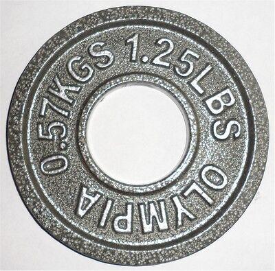 (1 Pair) 1.25 lb (.57 kg) Olympic Plates 1.25lb - Gray