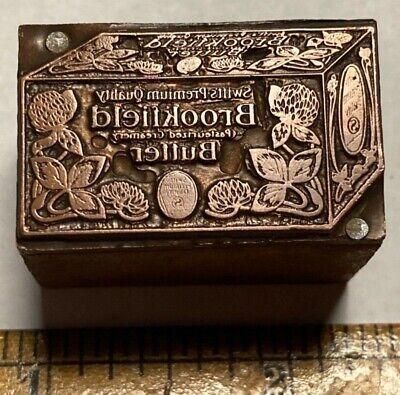 Letterpress Printing Printer Block Press Wood Type Brookfield Butter Copper