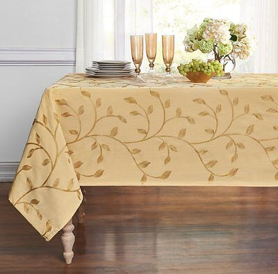Madison Floral High-End Embroidered Fabric Tablecloth - Assorted Sizes & Colors