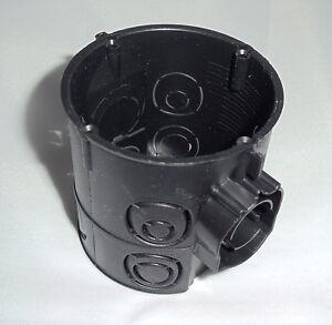 40 Stück Schalterdose tief Ø 60 mm 64 mm tief schwarz Schalterabzweigdose