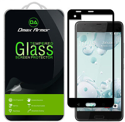Dmax Armor HTC U Ultra Tempered Glass Full Cover Screen Protector -Black