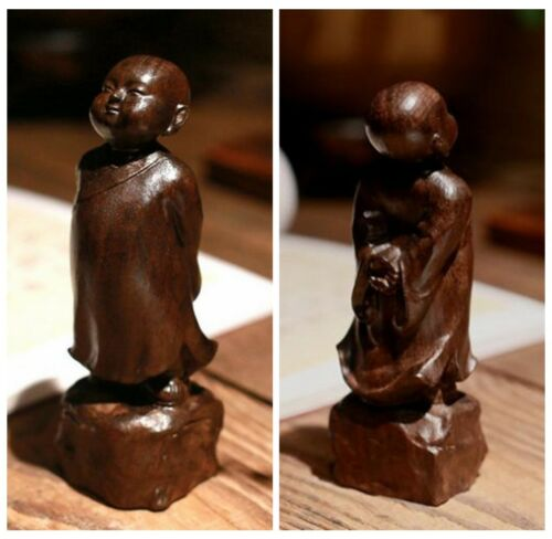 Chinese Art Agalloch Eaglewood Wood Carved Bodhisattva Statue Buddha Collection