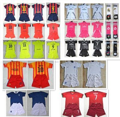Soccer Boys Football Club FCB 3-14 Years Jersey Shirt Kids Kits -