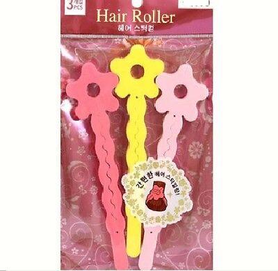 Hair Roller Curler Maker Stick Ez Styling Variety Wave 3 pcs Md in Korea Polyeth