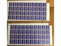 2 sheets of £1 stamps from business sale. Will sell separately