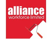 Painters & Decorators required - £14 per hour – Melmesbury – Call Alliance 01132026050