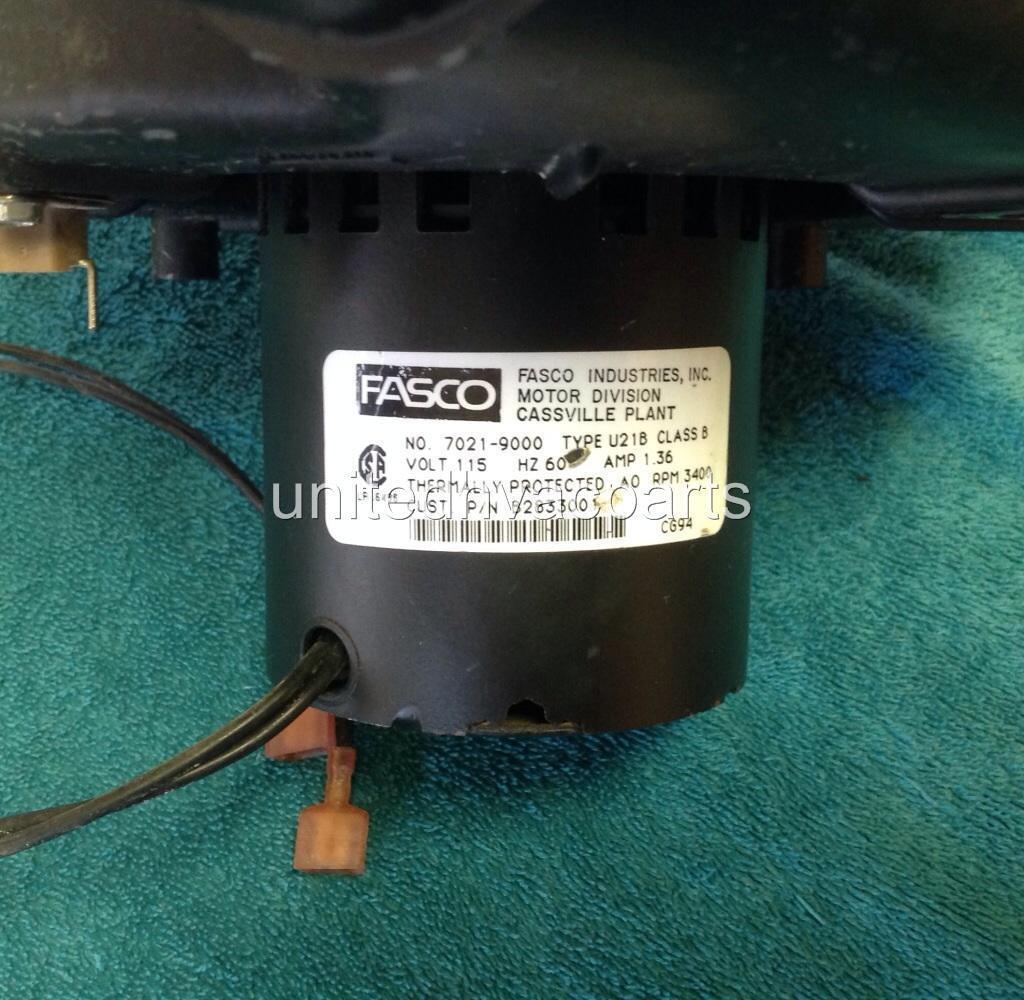Fasco 7021 9000 Goodman Janitrol B2833001 Inducer Motor