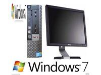 Windows 7 Dell 790 Core i5 Desktop PC - 4GB DDR3 - 500GB HDD I - Wi-Fi