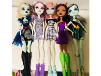 Monster high dolls, 5 in total