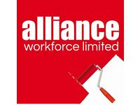 Painters & Decorators required - £15 per hour – Harrogate – Call Alliance 01132026050