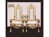 Stunning Lion King and Queen Throne Chairs for Hire £180