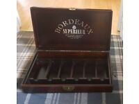 Bordeaux Superieur Wooden Wine Case