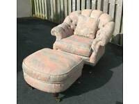 Lincoln house chair and foot stool