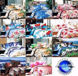 50 job lot wholesale Duvet cover set 3d Quilt cover set 3 PCS Bedding Animal Floral Rose MICROFIBRE