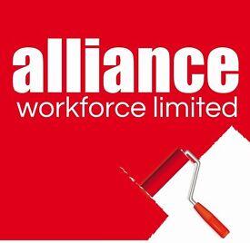 Painters & Decorators required - £13 per hour – Wrexham – Call Alliance 01132026050