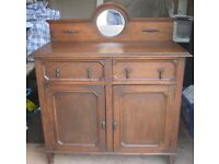 Very Nice Old Antique Oak Sideboard Dresser.