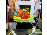 Jumparoo with interactive play and music