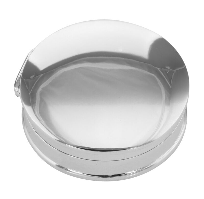 Classic Medium Round Sterling Silver Pillbox - Engravable