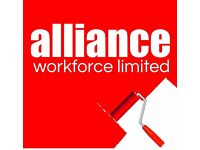 Painters & Decorators required - £14 per hour – Worcester – Call Alliance 01132026050