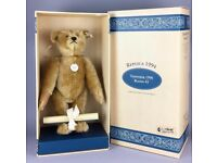 STEIFF -TEDDYBÄR 1906- 1994 LTD ED JOINTED GOLDEN BLOND MOHAIR BEAR 405891 BOXED