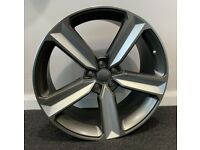 """19"""" x8.5 2020 RS4 STYLE ALLOY WHEELS AND TYRES (5x112 et40) GM/POL.. Suits Audi A3,A4 VW,SEAT ETC"""