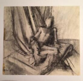 Charcoal drawing-old
