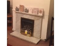 Marble fireplace surround and hearth, Chorleywood