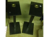 Pair of Foundation speaker stands