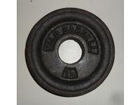 Milo Barbell Weights - Weightlifting Bodybuilding Gym - 5 lb, 2.5 lb, 1 & 1/4 lb - Garden Patio