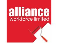 Painters & Decorators required - £14 per hour – Leatherhead – Call Alliance 01132026050