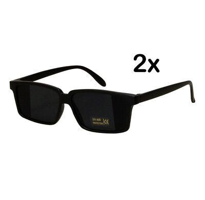 2x Ultracoole Agentenbrille mit Rückspiegel Detektivbrille Sonnenbrille