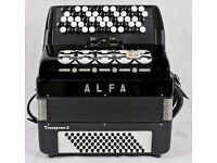 ALFA Transposer 2 - 5 Row Chromatic C-System Accordion - 2 Voice - 72 Bass Made in Germany