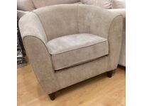 Fabric Bucket Arm Chair One Seater