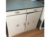 Genuine 1950's 2 door cupboard, Vintage Kitchen cabinet unit