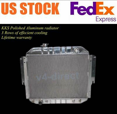 KKS POLISHED 3-ROW ALUMINUM RADIATOR 1975-1991 Ford E150 E250 E350 Econoline Van