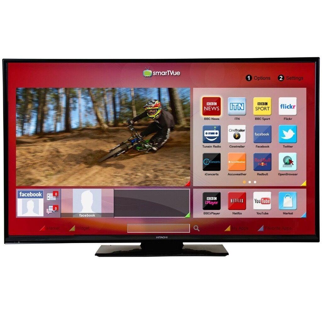 hitachi 40 inch tv. hitachi 48hbt62u 48 inch full hd freeview smart wifi led tv 40 tv