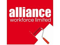 Painters & Decorators required - £14 per hour – Peterborough – Call Alliance 01132026050