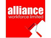 Painters & Decorators required - £12-13 per hour – Sheffield – Call Alliance 01132026050
