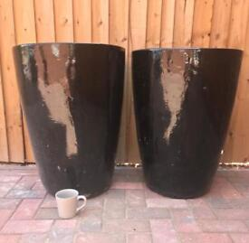 Extra Large Apta Black Pots with Soil