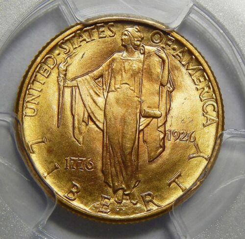 1926 PCGS MS65 SESQUICENTENNIAL $2.50 GOLD COMMEMORATIVE