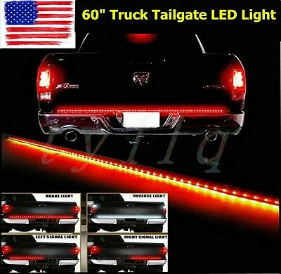 "60"" Flexible 5-Function Tailgate LED Strip Brake Signal Light Truck For SUV Jeep"